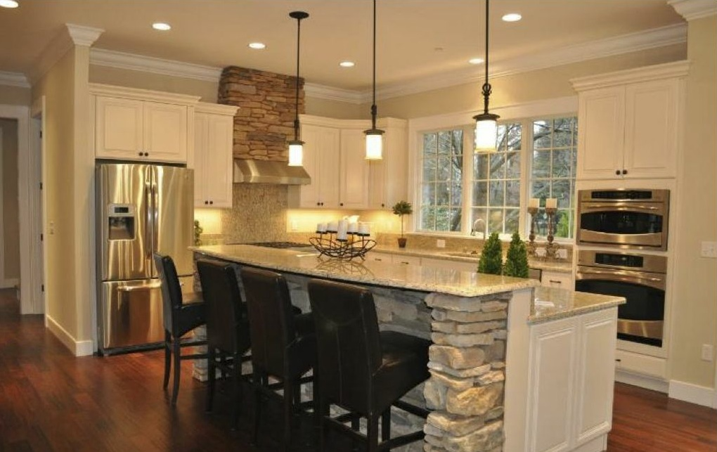 Kitchen design trend kitchen island for Kitchen remodel pics