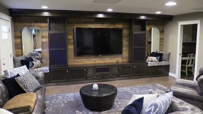 Impressive Media Room by Cabinet Discounters