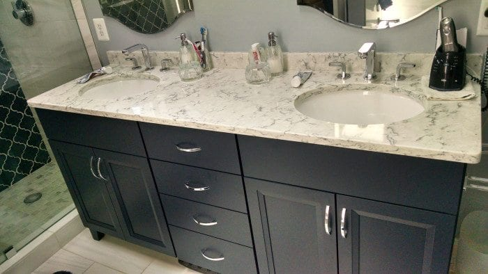 Kitchen bathroom countertops photo gallery design ideas for Bathroom ideas with quartz