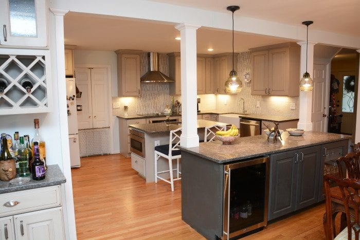 The Customers Selected Brighton Cabinetry For The Project. The Kitchen And  Wet Bar Area Have Meadowview Doors With A Maple Heather Finish, While The  Other ...