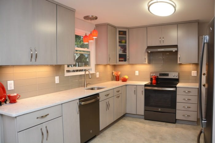 U201cKitchen Had Original (30+ Years Old) Cabinets Which Had Been Painted 8  Years Ago, So U2013 Dated, Chipped. Countertop Was Worn Out. Time For Change!