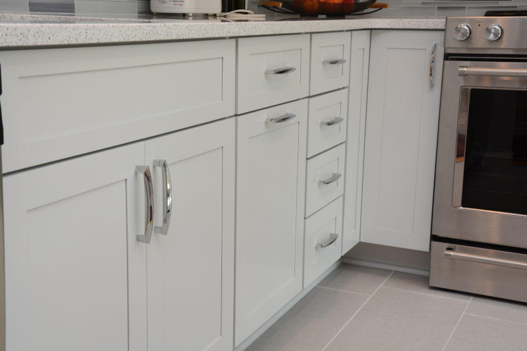 ... The Customer Selected Brighton Cabinetry With Amesbury Door Style And A  Unique Maple Serene Color. The Countertops Are Cambria Whitney Quartz.